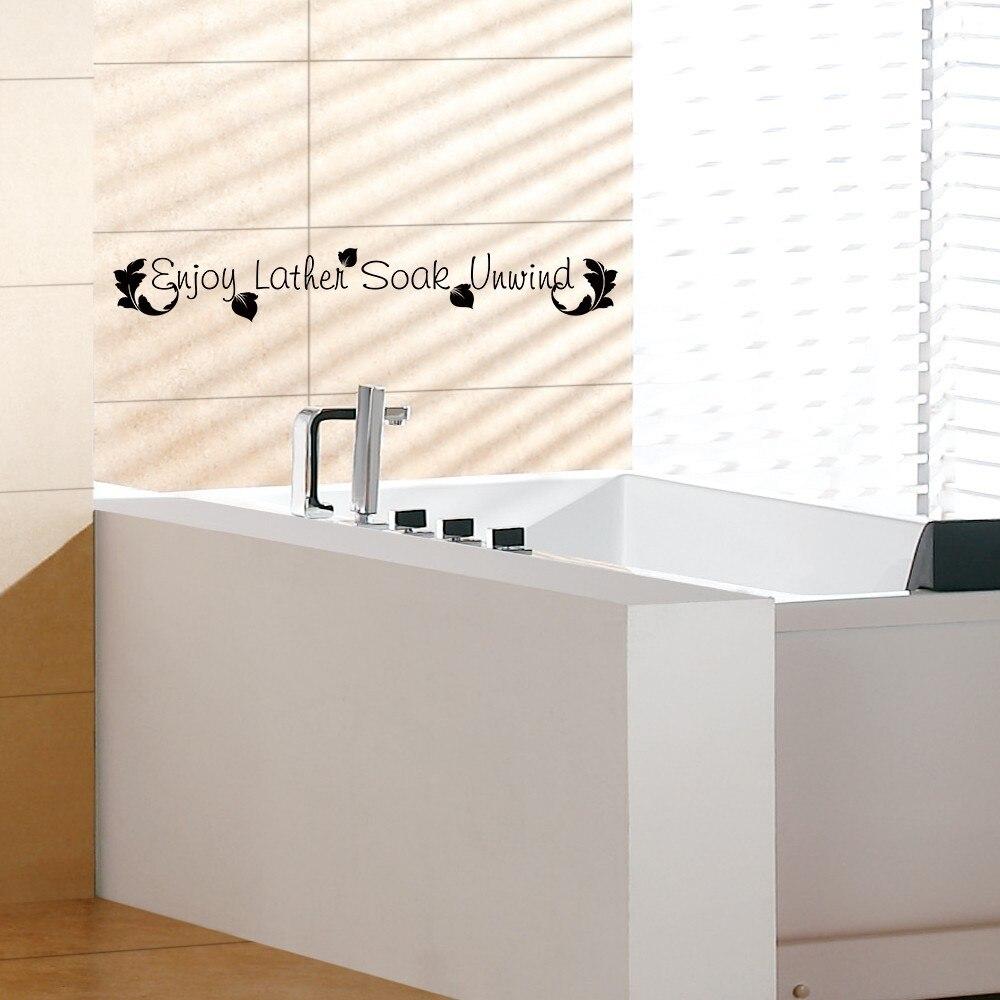 Wall art decals for bathroom - Bathroom Wall Decal Enjoy Lather Soak Unwind Bath Room Bath Tub Vinyl Wall Sticker