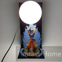 Dragon Ball Z Figura Goku Genki damaSpirit Bomba PVC Figure Dragonball Z DIY Juguete Modelo de Presentación Esferas Del Dragón + bola + Base