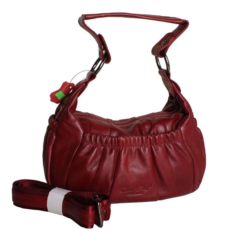 High Quality Women's 100% Genuine Leather Handbag Women Cow Leather Handbags Women Messenger Bucket Shoulder Bag Bolsas Feminina