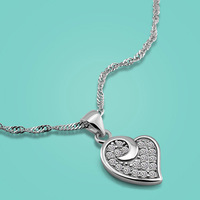 925 Sterling Silver Pendant Necklaces For Women Heart Pendant Clavicle Necklace Solid Silver Charm Jewelry Valentine