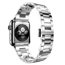 Классическая носо серебряный нержавеющая сталь для Apple , часы 38 / 42 мм с адаптером
