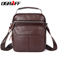OGRAFF Men Messenger Shouder Bags Small Fashion Handbags 2017 Men Genuine Leather Bag Designer Handbags High