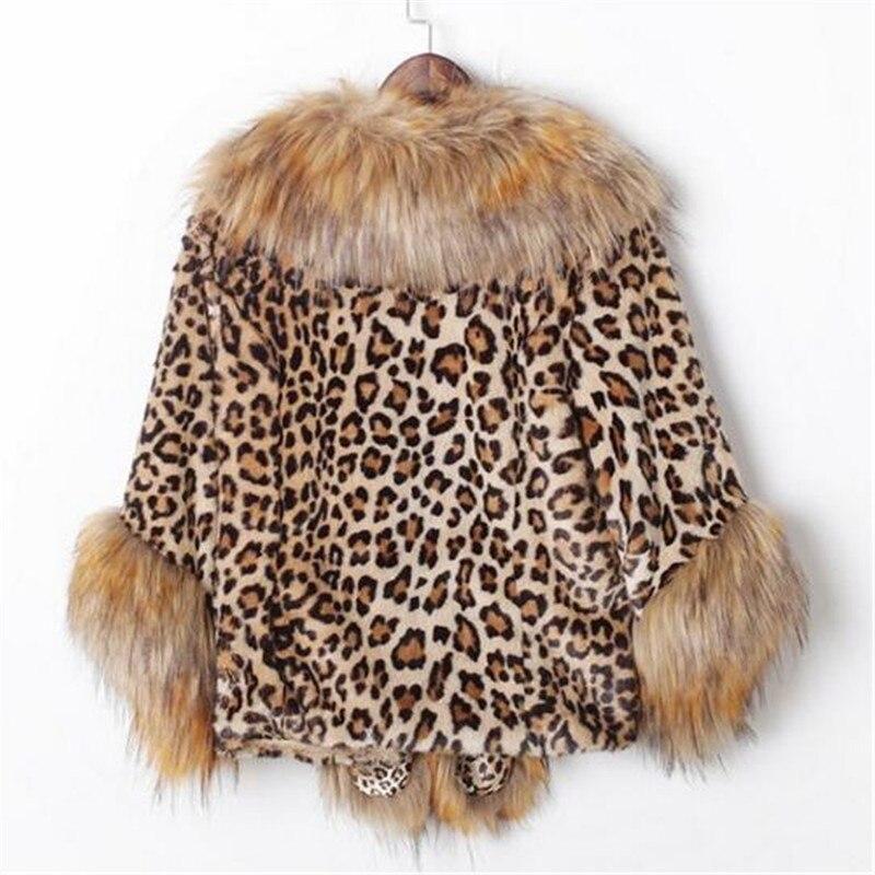 Manteaux Femme A5008 Léopard Leopard Épaississement Faux Femmes Fourrure De Veste Court Pour Mince Manteau Furry Les Lapin dvWwqBU6Z