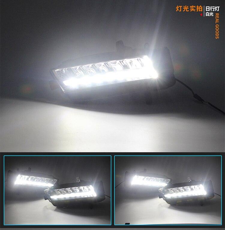 СМК светодиодными фарами дневного света DRL для Volkswagen гольф 7 МК7 2013 2014 с противотуманные фары