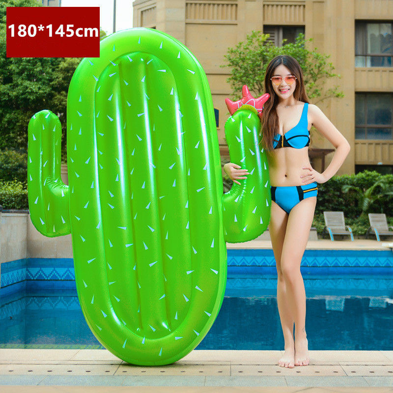 180*145cm Giant Inflatable cactus Pool Float row Ride-On Swimming Ring Water Holiday Party Toys Piscina funny swimming laps