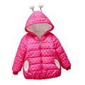 Baby Girls Winter Outerwear Coat,Heart Pattern Kids Warm Winter Korea fashion Jacket Coat,Warm Girls Clothing Princess ,hooded