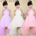 halter princess girls dresses Ceremonies kids formal clothes disfraz fever costume vestido rapunzel dress disfraces jurk