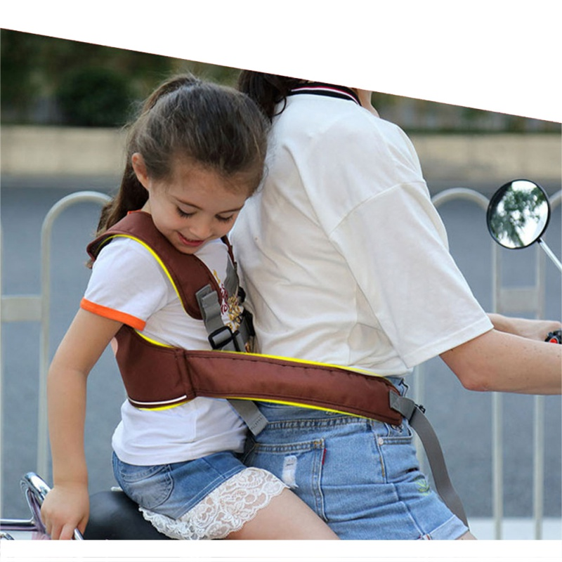 Motorcycle Bicycle Child Adjustable Safety Belt Baby Protection Belt Backpack Carrier Harness