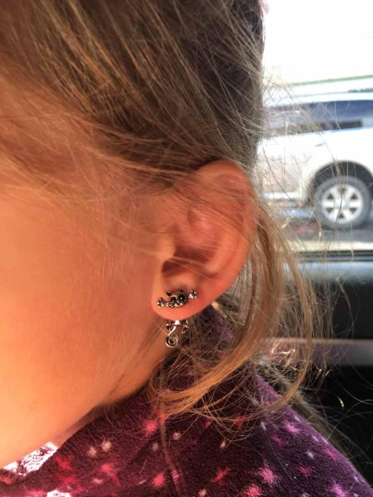 CHENGXUN  New Fashion Cute Cat Stud Earrings Set For Women Girls For Children Baby Kids Animal Jewelry brincos feminino