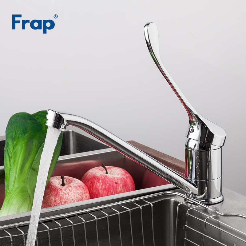 FRAP Kitchen Faucet Cold and Hot Water Mixer Chrome Finished Operation Medicinal Tap Super Long Single Handle F4954 frap h54 f4954