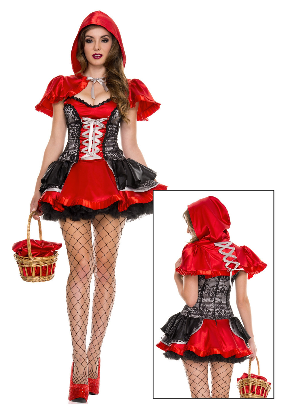 Sexy Cardinal Little Red Riding Hood Costume Adult Women Halloween Fancy Outfit Sexy Halloween -6292