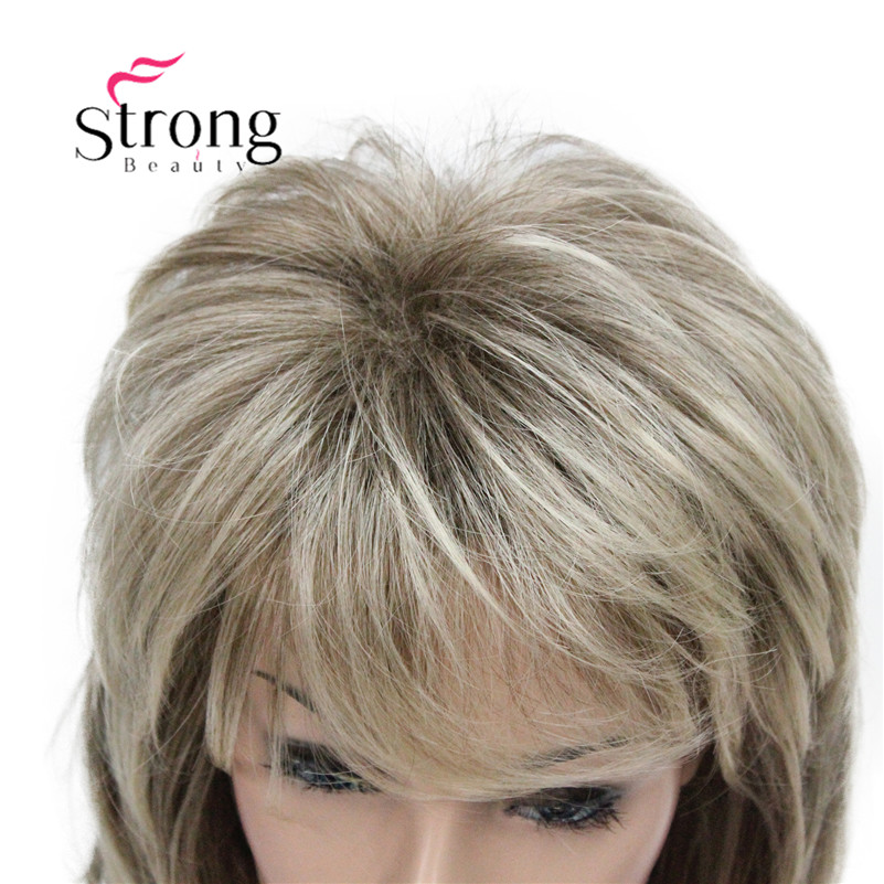 Image 5 - StrongBeauty Long Shaggy Layered Ombre Blonde Classic Cap Full Synthetic Wig Women's Wigs COLOUR CHOICES-in Synthetic None-Lace  Wigs from Hair Extensions & Wigs