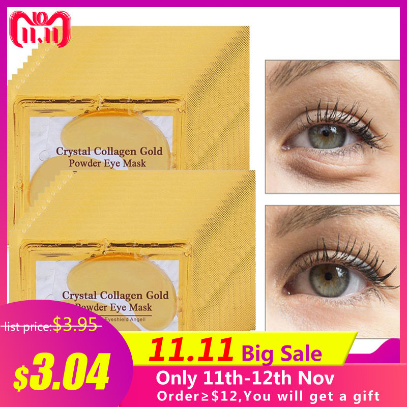 20pcs=10packs Gold Masks Crystal Collagen Eye Mask Hotsale Eye Patches For The Eye Anti-Wrinkle Face Mask Remove Black Eye Care