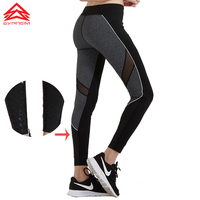 Syprem 2017 Spring New Style Women Yoga Pants Fitness Mesh Sports Leggings Running Trousers Tracksuit For