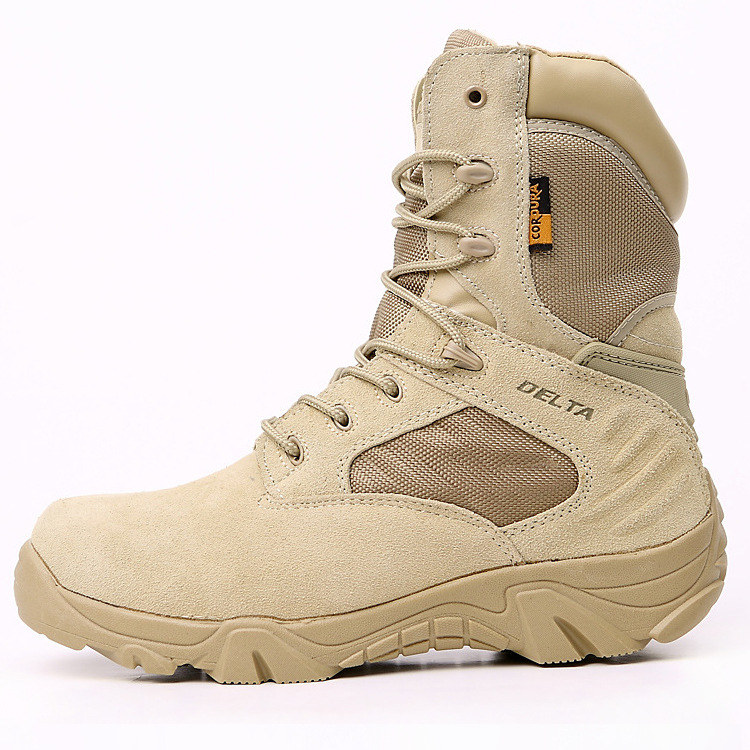 Dropshipping Army Boots Male High Top Design Tactical Boots Delta SWAT Shoes for Men Black Military