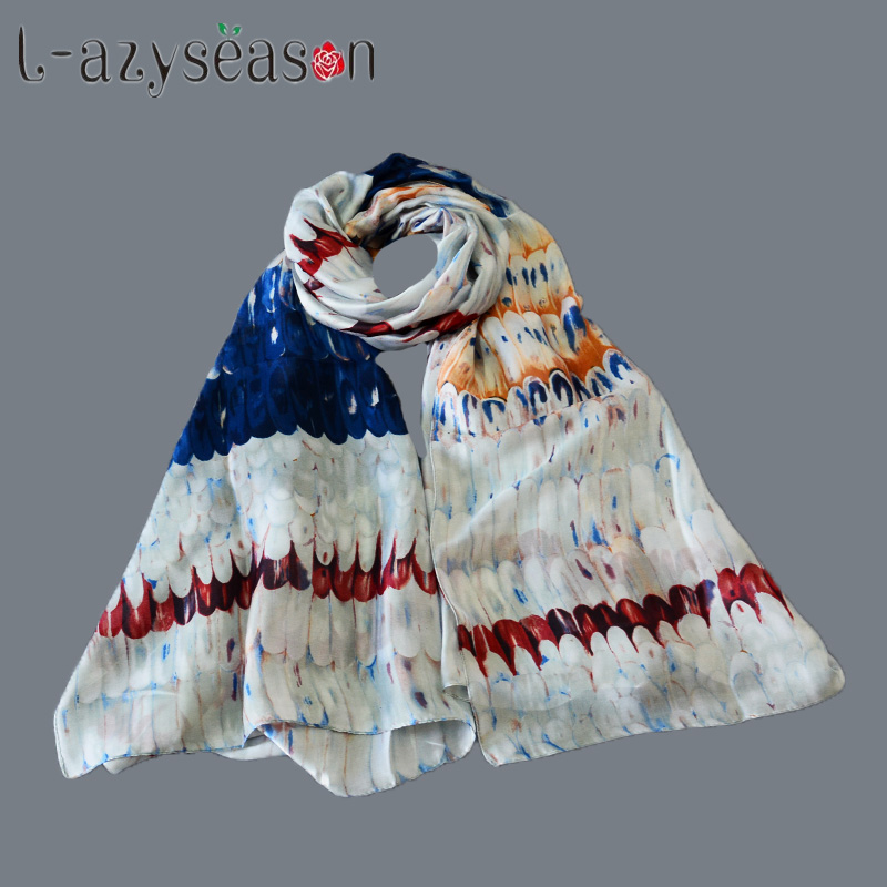 L-azyseason Luxury Scarf For Women Brand hijab Designer Shawl print Scarves Wraps Fashion Lady's Wholesale Dropshipping
