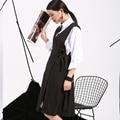 Soonyour 2017 новый обвал моды горячей продажи Европейских и Американских черный свободный жилет dress simple knot бесплатная shipping-4V00151