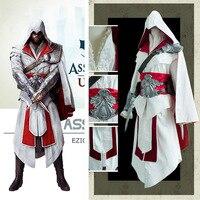 2017 высокое качество Assassin Creed Эдвард IV 4 Black Flag Kenway Косплэй Костюм Полный пользовательский одежда Бесплатная доставка