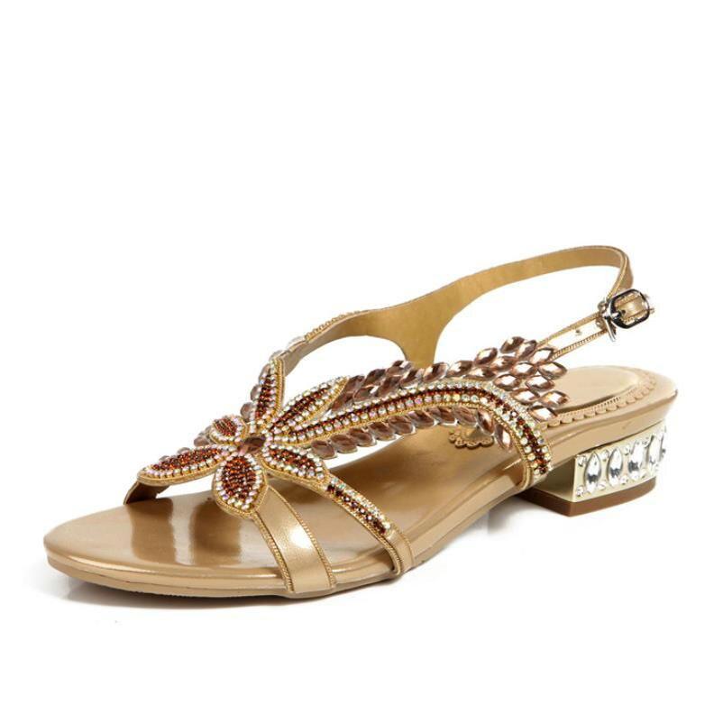 Ouvert Taille Rome Bout Femmes Bohême Pour Plat Black purple golden Sandales 33 44 Chaussures D'été Style Gladiateur Femelle Plage À lFK1Jc