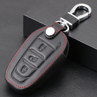 Smart 3 Button Leather Car Remote Key Fob Shell Cover Case For Peugeot 3008 208 308 508 408 2008 307 4008 Skin Holder 2016  2018|Key Case for Car| |  -