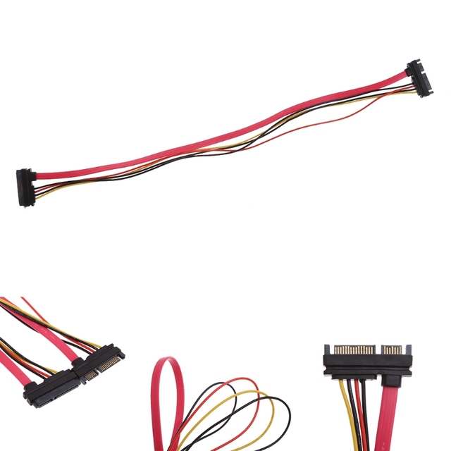 50cm 22Pin SATA Male To Female 7 15 Pin Serial ATA Data Power Extension Cable