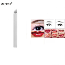 Eyebrow Makeup Tattoo Blades 20Pcs 9Pin Permanent Makeup Microblading Needles 3D Embroidery Manual Tattoo Pen Tattoo Accessories
