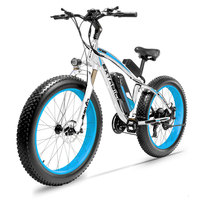 Cyrusher XF660 1000W 48 brushless motor electric bike 26 inch fat tire full suspension fork e bike with smart speedometer