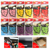 12pcs/lot Auto Shine Paper Hanging Car Air Freshener Vanilla perfumed/fragrance Leaf Shape Free Shipping 2