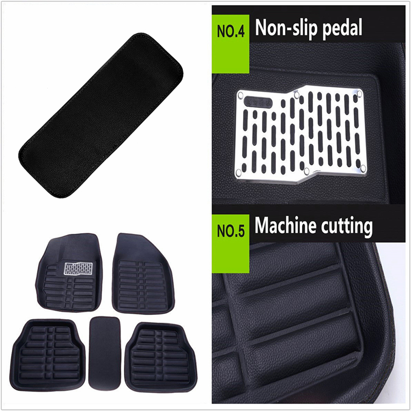 Универсальный 5x автомобиль коврики Передние и задние ковер подходит для всех погоды черный кожаный мат WX0823