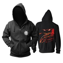 13 Designs Zipper Disturbed Sudadera Sweatshirt Band Cotton Rock Hoodie Brand Jacket Fleece Punk Death Metal Demon Hunter Freddy