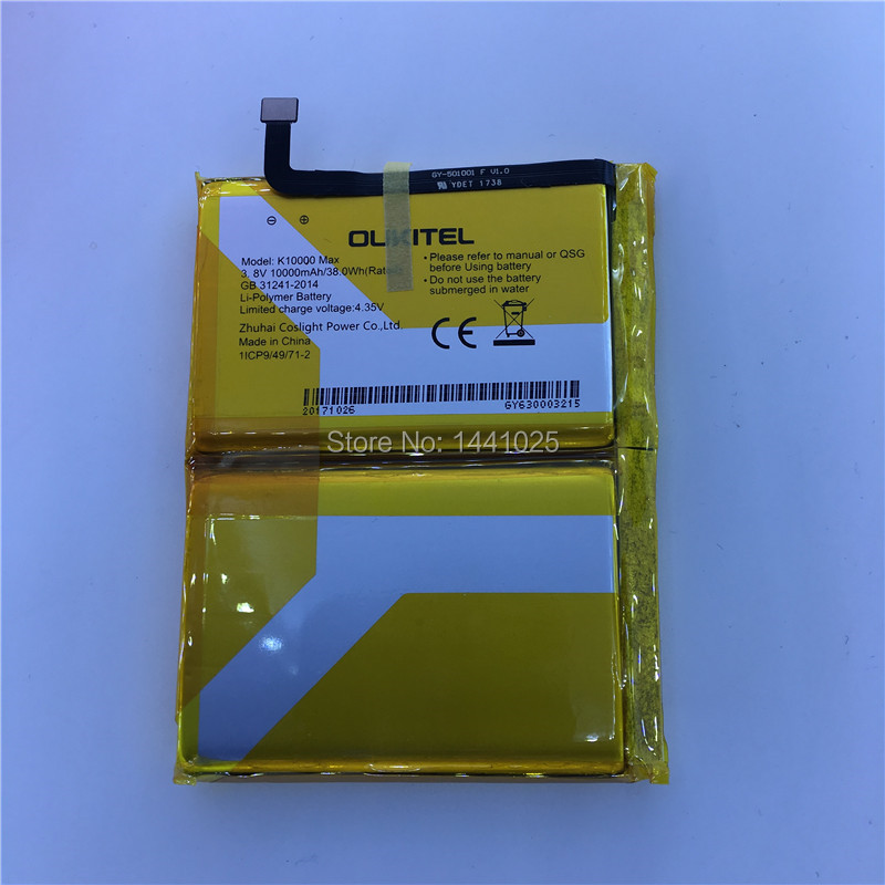 Pour OUKITEL K10000 max batterie 10000 mAh longue durée de veille batterie de téléphone portable haute qualité OUKITEL accessoires mobiles
