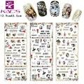Sistema de desarrollo de CONOCIMIENTOS 3 hoja/Set Monroe y Audrey Hepburn & lace Nail design consejos etiqueta engomada del clavo para el arte de uñas calcomanía de agua de uñas etiqueta