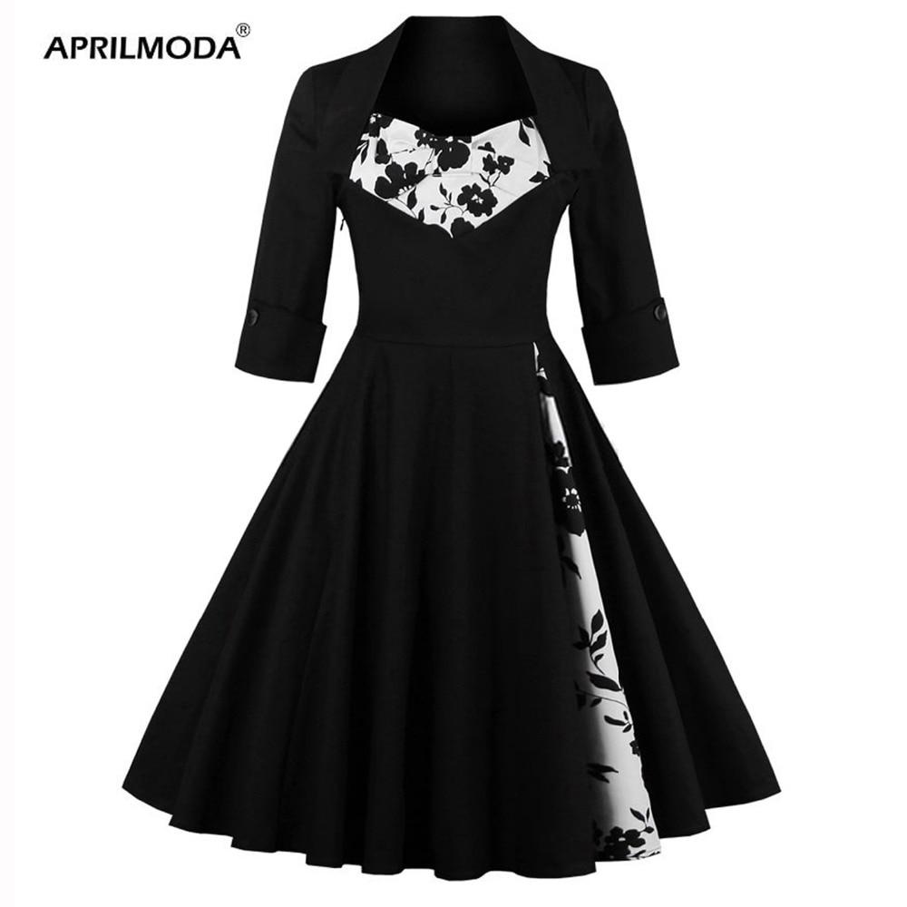 hepburn swing 50s dress plus size 5xl women flower dot. Black Bedroom Furniture Sets. Home Design Ideas