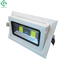 Rectangular Recessed COB led downlight 50w light rotatable lamp adjustable flood home free ship(2pcs)by DHL