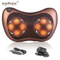 OPHAX Electric Multifunctional Neck Massager Car Home Cervical Shiatsu Massage Back Waist Leg Body Massager Pillow Relaxation