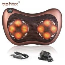 Ophax elétrica multifuncional pescoço massageador carro casa cervical shiatsu massagem volta cintura perna corpo massageador travesseiro relaxamento