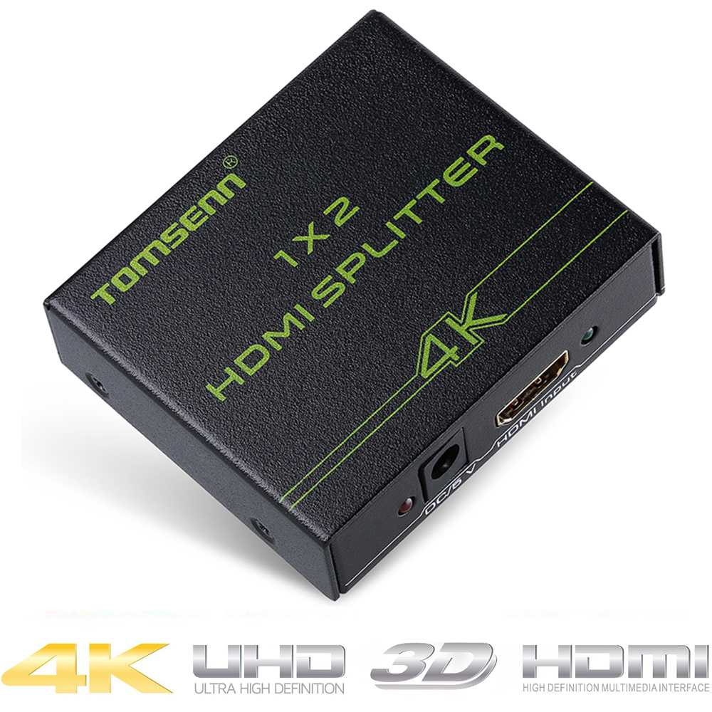 1X2 HDMI Splitter Version 1.4 Powered HDMI Splitter Dual Monitor HDMI Splitter for Full HD 1080P Support 3D (One Input To Two Ou