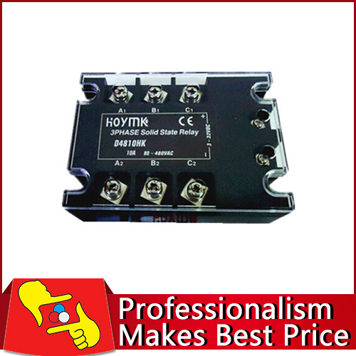 FACTORY DIRECT SALE 70-280V AC 3 Phase solid state relay 10A electronic switch free shipping normally open single phase solid state relay ssr mgr 1 d48120 120a control dc ac 24 480v
