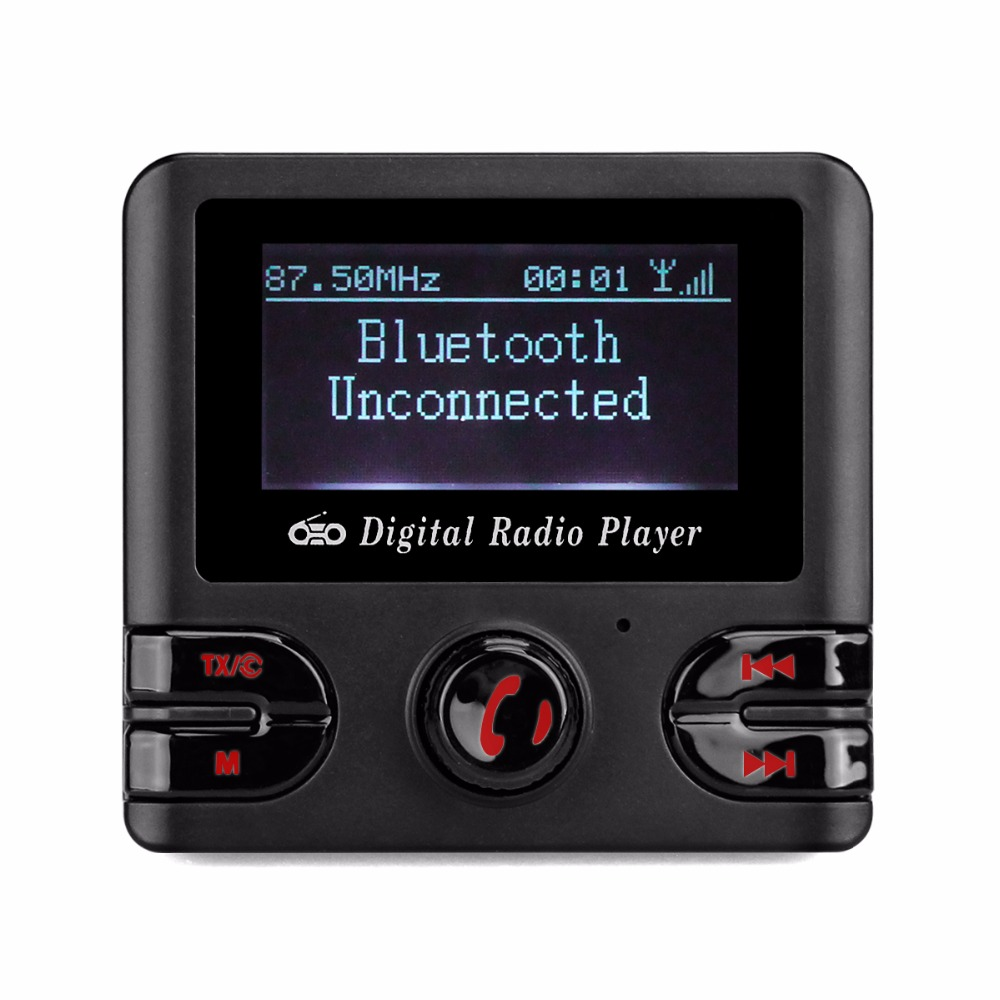 Numérique DAB Radio Récepteur FM Tuner Radio Bluetooth De Table Sans Fil Véhicule de Radiodiffusion Avec FM Transmetteur USB Chargeur Y4437