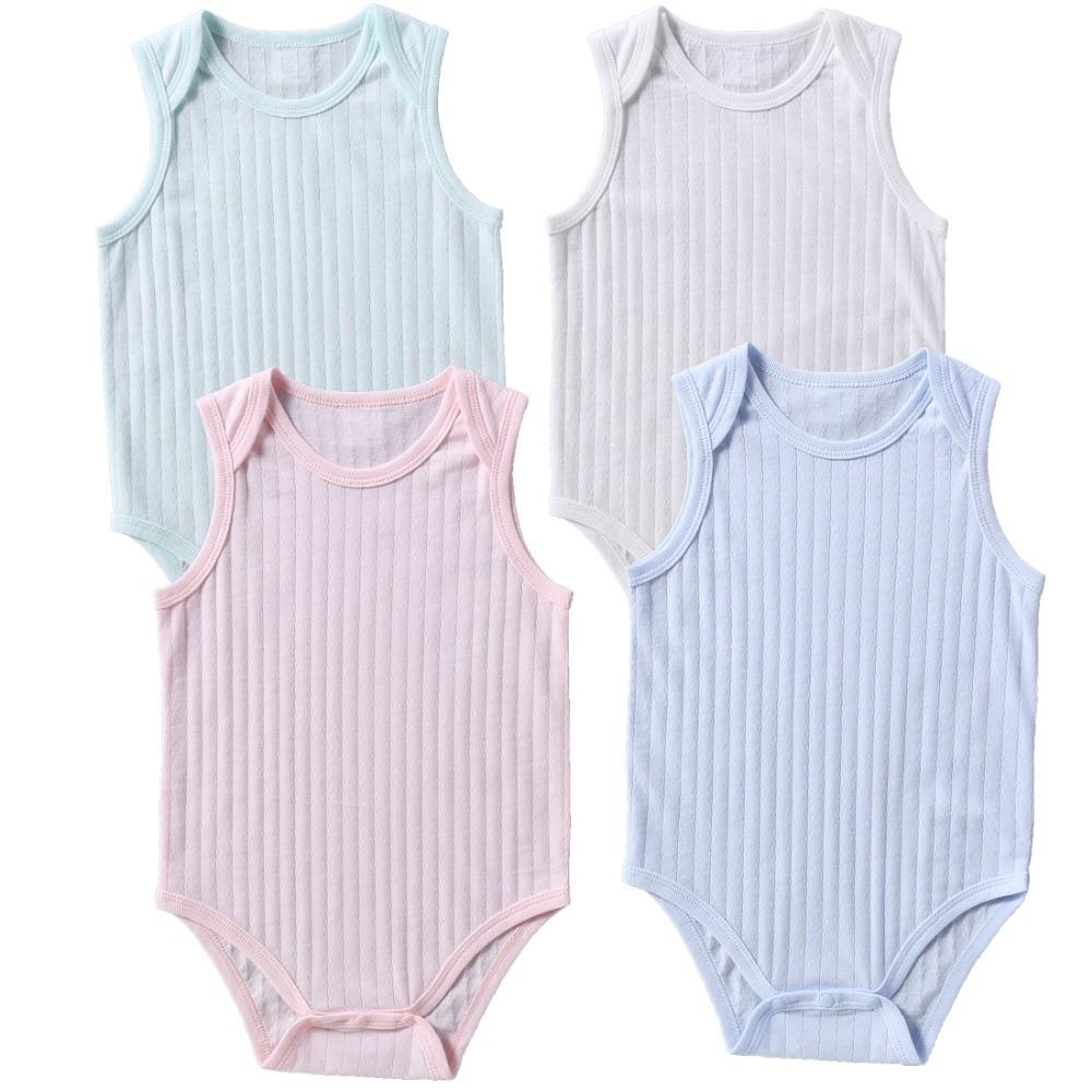 387416d5041c2e Zomer effen baby rompertjes pasgeboren baby puur katoen Jumpsuits ...