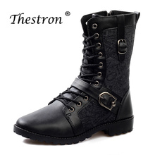 Thestron New Arrival Mens High Top Working Boots Brand Hot Sale Autumn Knee Luxury Comfortable Safety