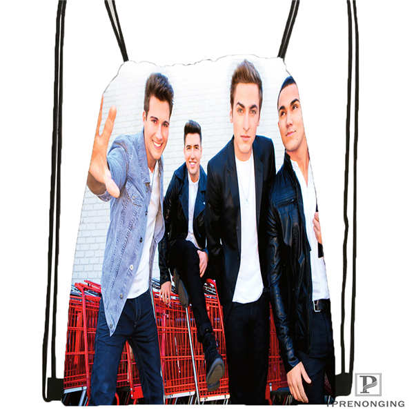 Custom Big-Time-Rush-in-Cologne- Drawstring Backpack Bag Cute Daypack Kids Satchel (Black Back) 31x40cm#180611-01-06