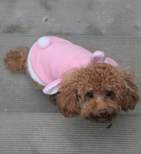1pc cute pink red Pet Dog Clothes Autumn Winter Hoodie Coat Jumpsuit Sweater dog Clothing With Size of XS/S/M/L/XL s2