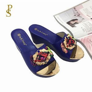 Image 1 - Women wedges slippers Comfortable PU sole high heel for women