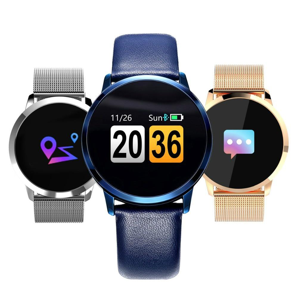 Q8 Color Touch Screen Smartwatch Smart 1080P Watch Men Women IP67 Waterproof Sport Fitness Wearable Devices Electronics Bracelet
