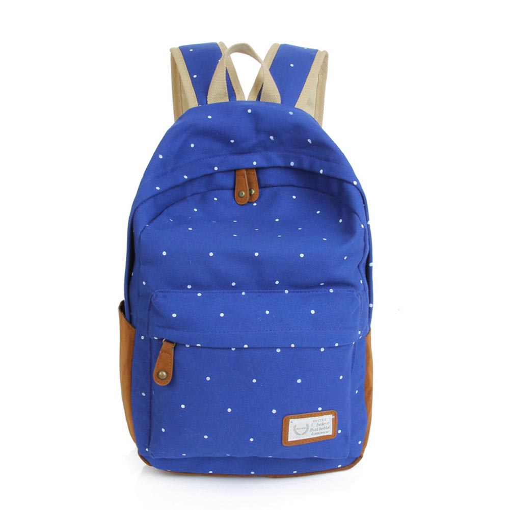 backpack Korean Fashion Lady Backpack Bag Unisex Dot Printing Backpack  School Book Backpacks Shoulder Bag Casual Canvas Hot 47 8cfe807db3815