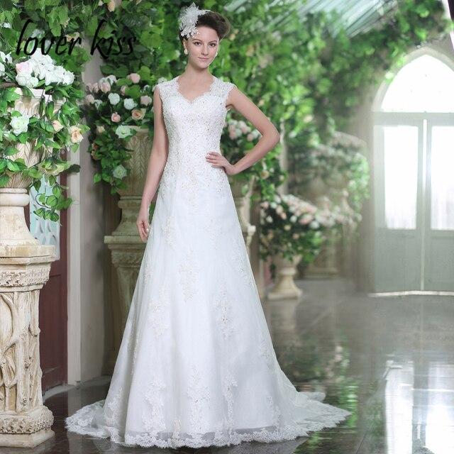Lover Kiss Robe De Mariee Vintage Spanish Bohemian Lace Wedding Dresses Y Seaside Gowns Open