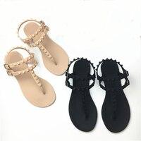 MCCKLE Women Flip Flops Flat Sandals Female Double Buckle T Strap Jelly Shoes Casual Summer Woman Comfortable Shoe Leisure Flats