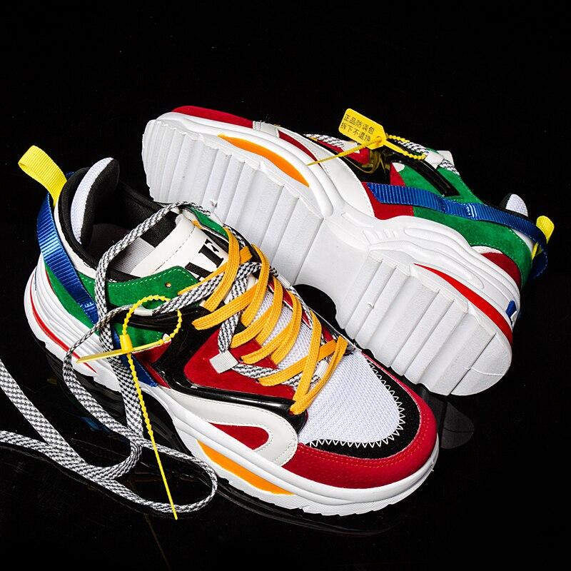 BomKinta Повышение высоты Разноцветные мужские повседневные туфли All Seasons Дышащие кроссовки Мужчины Смешанные цвета Обувь для ходьбы для папы Для мужских кроссовок