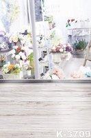 Newest 5ft*7ft Photo Backgrounds For Children/Wedding Flowers Shop Wooden Floor Studio Props Photograph Backdrops Wholesale